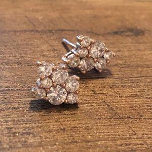 Kate Spade Cluster Rose Gold CZ Earrings